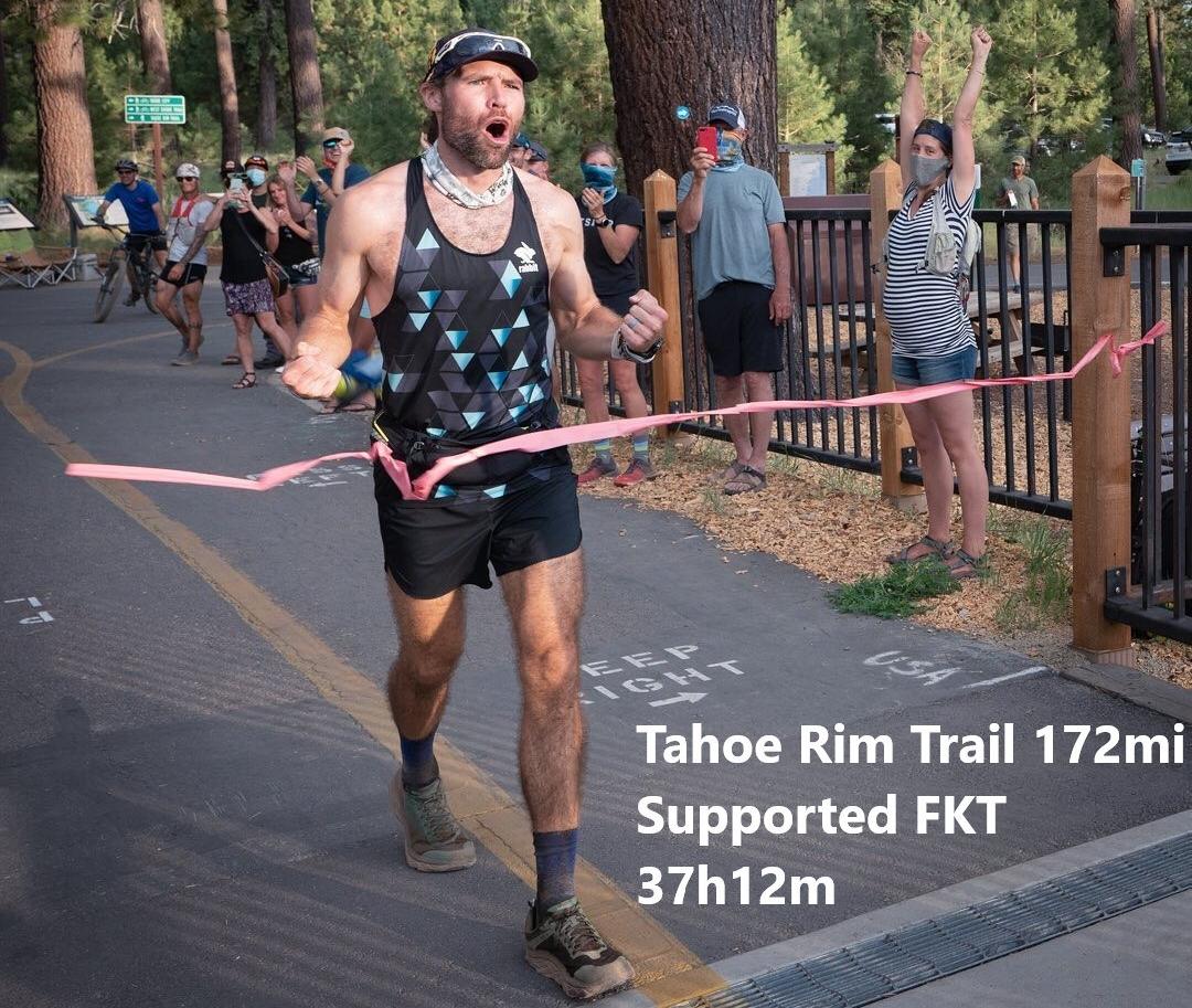 Adam Kimble Tahoe Rim Trail FKT